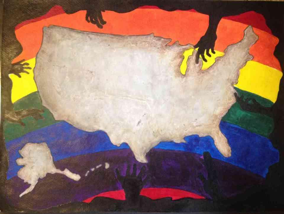rainbow america black hand